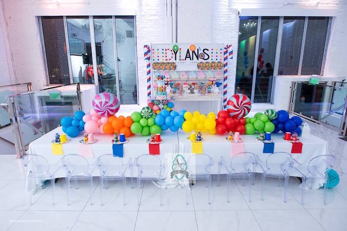 Candy Land Party Tables from Dylan's Candy Bar Inspired Birthday Party on Kara's Party Ideas | KarasPartyIdeas.com (8)