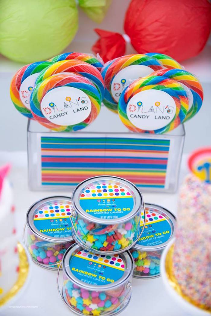 Rainbow to Go Cups from a Dylan's Candy Bar Inspired Birthday Party on Kara's Party Ideas | KarasPartyIdeas.com (7)