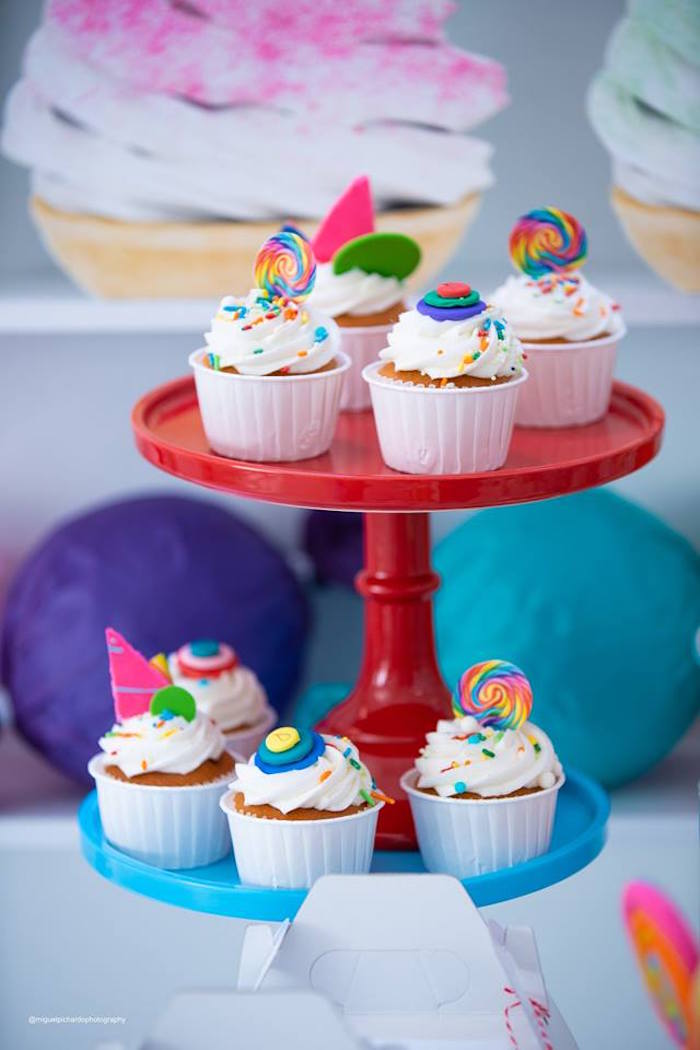 Candy Cupcakes from Dylan's Candy Bar Inspired Birthday Party on Kara's Party Ideas | KarasPartyIdeas.com (6)