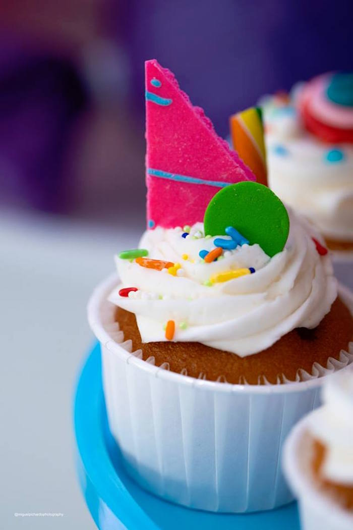Candy Cupcake from Dylan's Candy Bar Inspired Birthday Party on Kara's Party Ideas | KarasPartyIdeas.com (5)