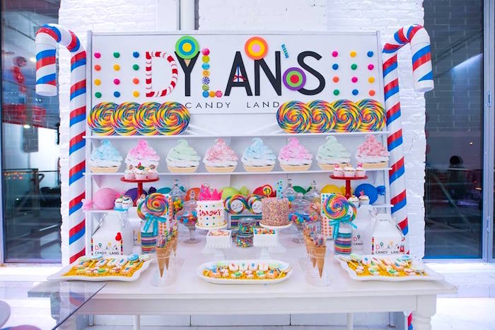 Candy Land Dessert table from a Dylan's Candy Bar Inspired Birthday Party on Kara's Party Ideas | KarasPartyIdeas.com (3)