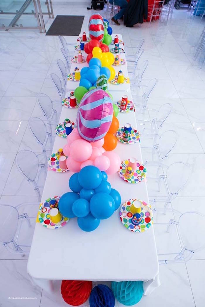 Candy Land Party + Guest Table from Dylan's Candy Bar Inspired Birthday Party on Kara's Party Ideas | KarasPartyIdeas.com (26)