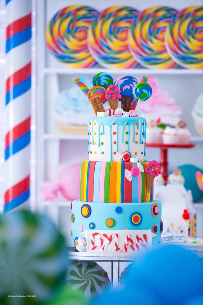 Candy Land Cake from Dylan's Candy Bar Inspired Birthday Party on Kara's Party Ideas | KarasPartyIdeas.com (25)