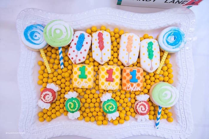 Candy Themed Cookies from Dylan's Candy Bar Inspired Birthday Party on Kara's Party Ideas | KarasPartyIdeas.com (22)
