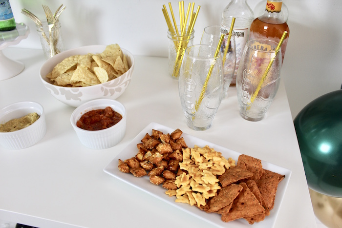 Snack Plate from a Football Party Drink & Snack Bar on Kara's Party Ideas | KarasPartyIdeas.com (11)