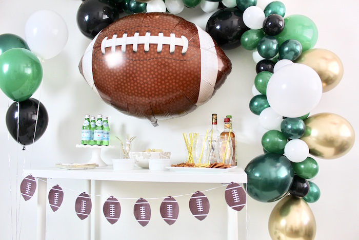 Football Party Drink & Snack Bar on Kara's Party Ideas | KarasPartyIdeas.com (10)