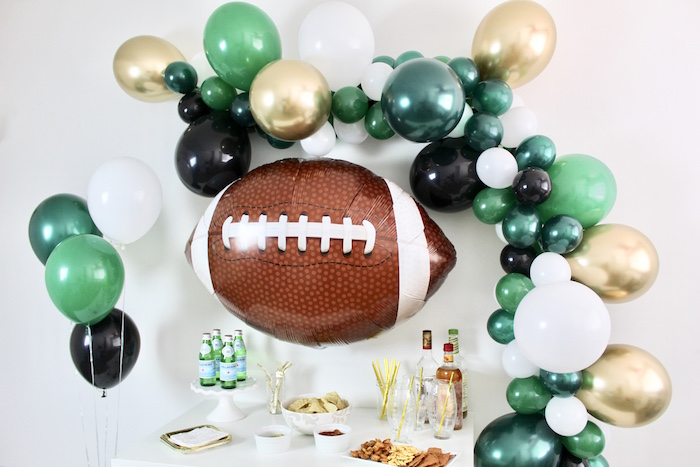 Football Party Table from a Football Party Drink & Snack Bar on Kara's Party Ideas | KarasPartyIdeas.com (8)