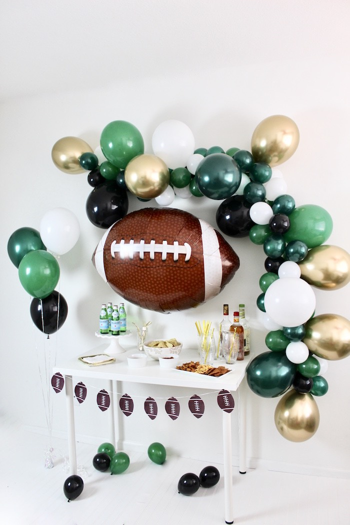 Football Party Table from a Football Party Drink & Snack Bar on Kara's Party Ideas | KarasPartyIdeas.com (7)