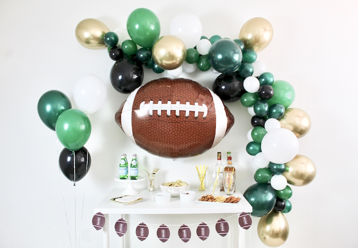 Football Party Table from a Football Party Drink & Snack Bar on Kara's Party Ideas | KarasPartyIdeas.com (4)