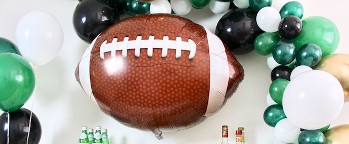 Football Party Drink & Snack Bar on Kara's Party Ideas | KarasPartyIdeas.com (3)