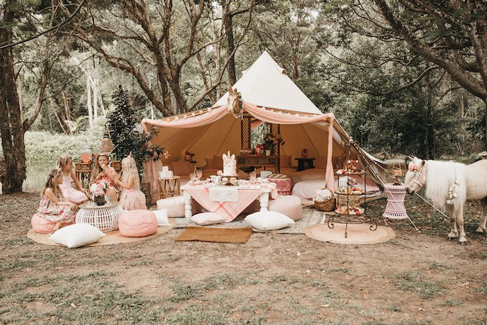 Glamacamp from a Glam Boho Unicorn Birthday Party on Kara's Party Ideas | KarasPartyIdeas.com (32)