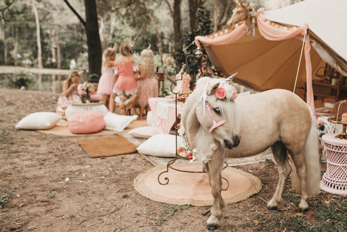 Beautiful Boho Unicorn from a Glam Boho Unicorn Birthday Party on Kara's Party Ideas | KarasPartyIdeas.com (27)
