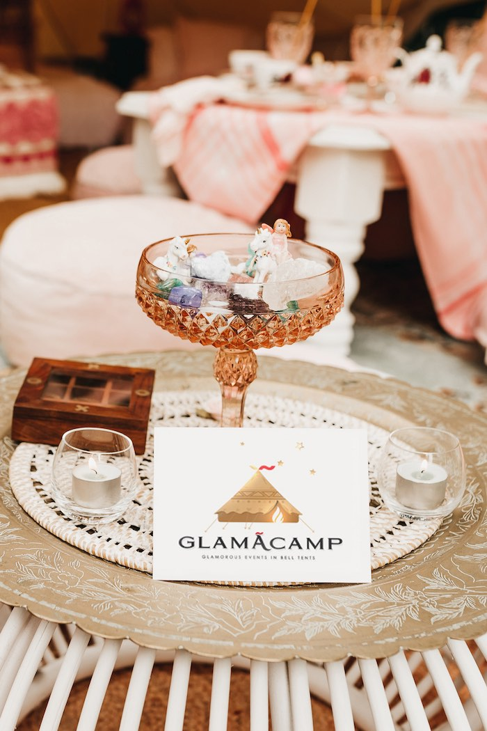 Glamacamp from a Glam Boho Unicorn Birthday Party on Kara's Party Ideas | KarasPartyIdeas.com (43)
