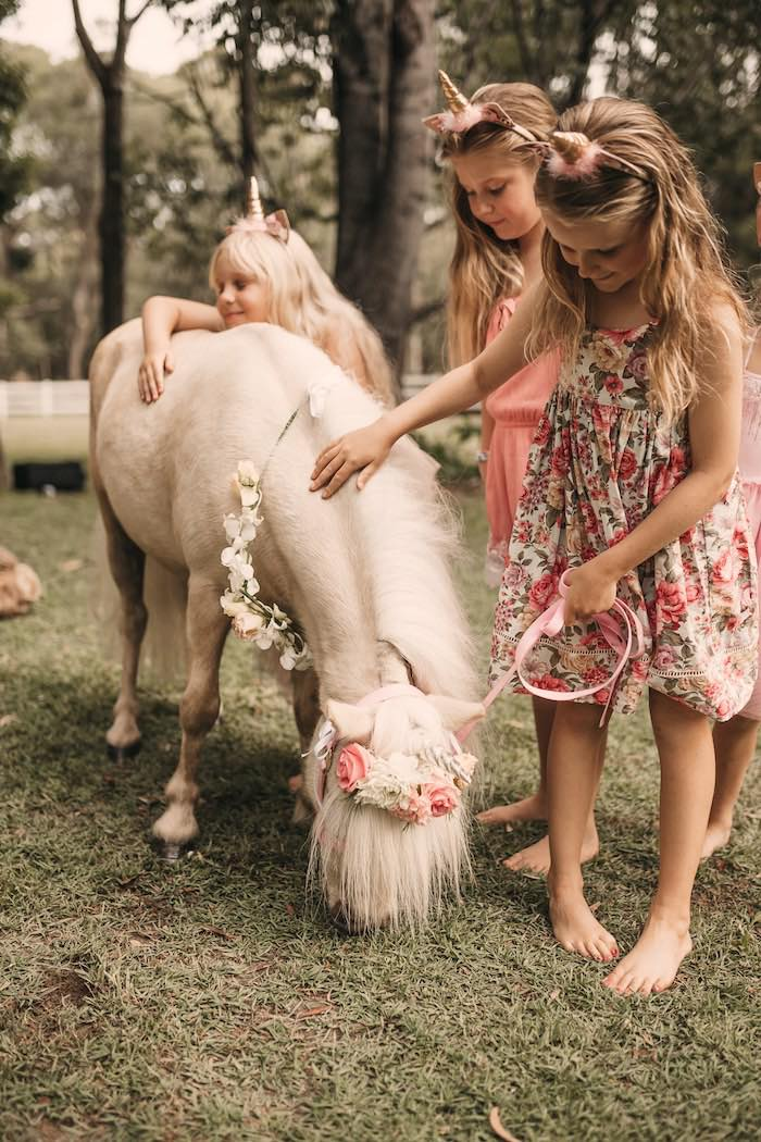 Floral Unicorn from a Glam Boho Unicorn Birthday Party on Kara's Party Ideas | KarasPartyIdeas.com (21)