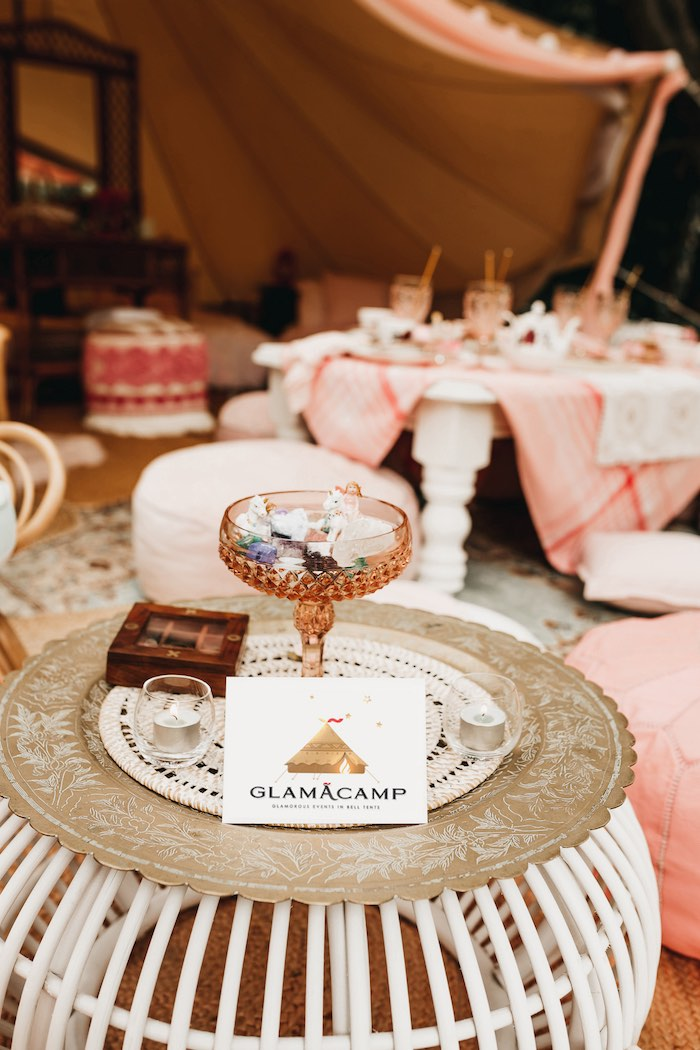 Glamacamp from a Glam Boho Unicorn Birthday Party on Kara's Party Ideas | KarasPartyIdeas.com (42)