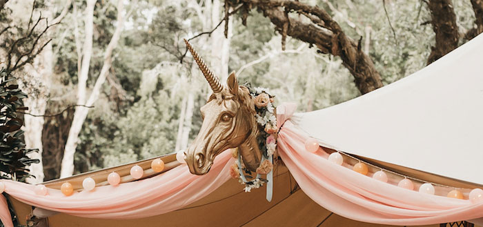 Glam Boho Unicorn Birthday Party on Kara's Party Ideas | KarasPartyIdeas.com (4)