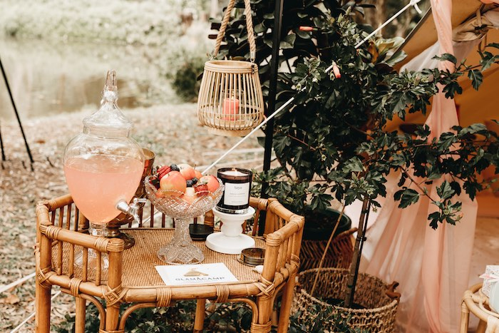 Glam Boho Beverage Table from a Glam Boho Unicorn Birthday Party on Kara's Party Ideas | KarasPartyIdeas.com (36)