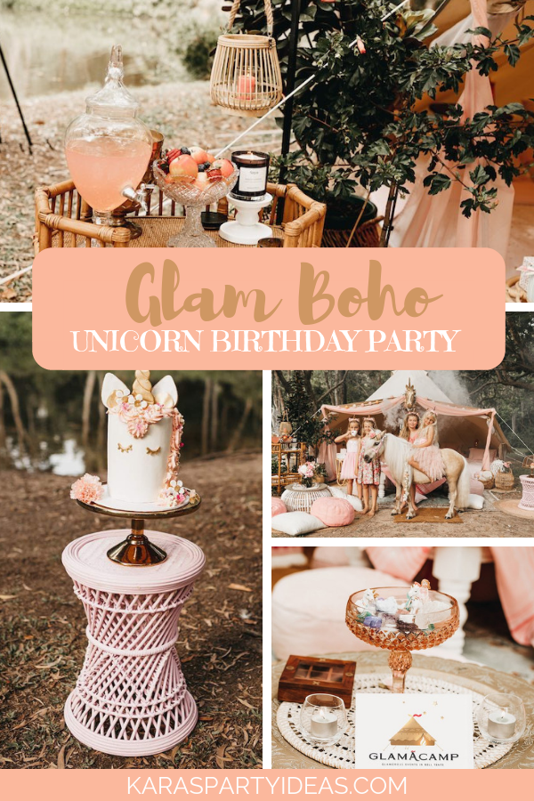 Glam Boho Unicorn Birthday Party via Kara's Party Ideas - KarasPartyIdeas.com