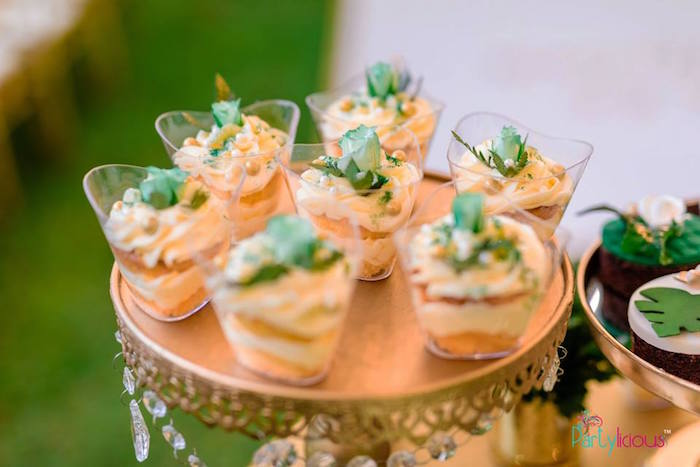 Dessert Cups from a Glamorous Tropical Sweet 16 Birthday Party on Kara's Party Ideas | KarasPartyIdeas.com (20)