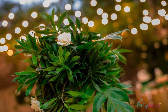 Greenery from a Glamorous Tropical Sweet 16 Birthday Party on Kara's Party Ideas | KarasPartyIdeas.com (30)