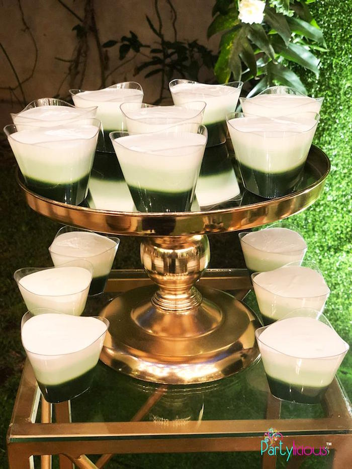 Jello Cups from a Glamorous Tropical Sweet 16 Birthday Party on Kara's Party Ideas | KarasPartyIdeas.com (27)