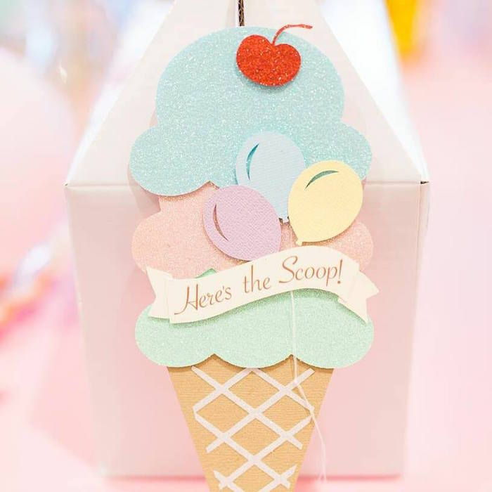 Ice Cream Gable Favor Boxes from a Here's the Scoop Pastel Ice Cream Party on Kara's Party Ideas | KarasPartyIdeas.com (5)
