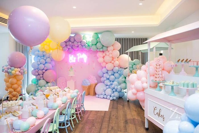 Here's the Scoop Pastel Ice Cream Party on Kara's Party Ideas | KarasPartyIdeas.com (18)
