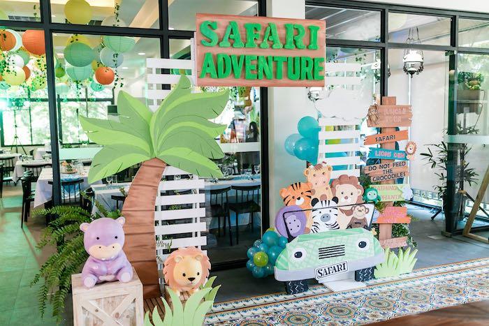 Safari Adventure Party Entrance from a Jungle Safari Birthday Party on Kara's Party Ideas | KarasPartyIdeas.com (29)