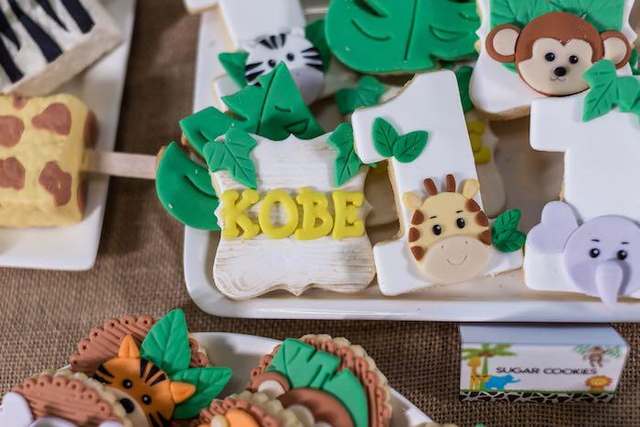 Jungle Animal Cookies from a Jungle Safari Birthday Party on Kara's Party Ideas | KarasPartyIdeas.com (17)