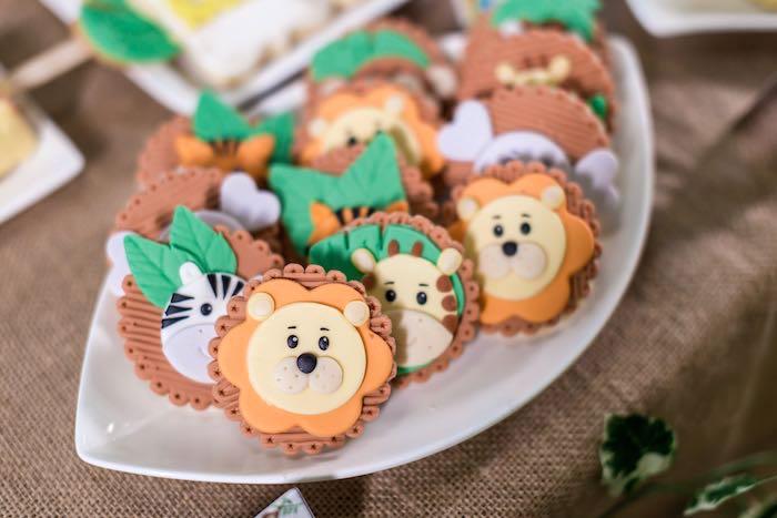Jungle Animal Cookies from a Jungle Safari Birthday Party on Kara's Party Ideas | KarasPartyIdeas.com (16)