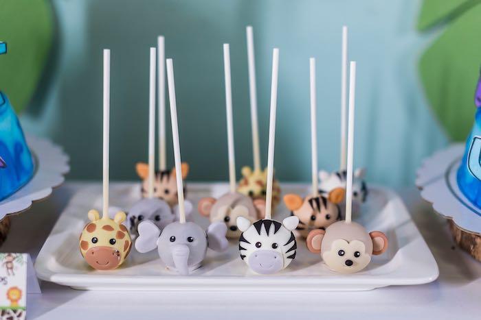 Safari Animal Cake Pops from a Jungle Safari Birthday Party on Kara's Party Ideas | KarasPartyIdeas.com (15)