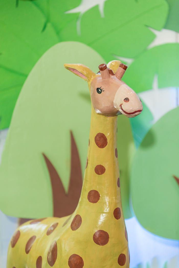 Giraffe Prop from a Jungle Safari Birthday Party on Kara's Party Ideas | KarasPartyIdeas.com (8)