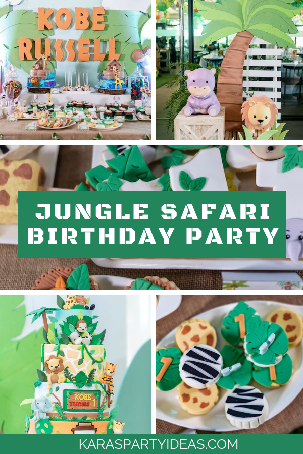 Jungle Safari Birthday Party via Kara's Party Ideas - KarasPartyIdeas.com.png