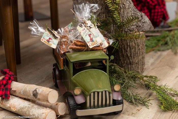 Pretzel Rod Wood Chops from a Little Lumberjack Camping Birthday Party on Kara's Party Ideas | KarasPartyIdeas.com (21)