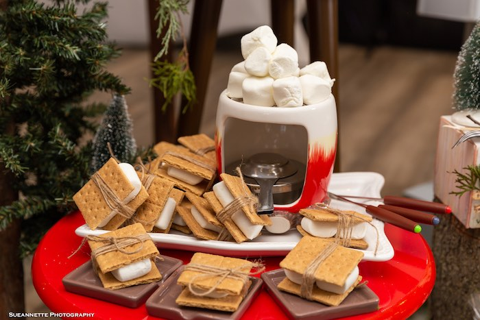 S'mores from a Little Lumberjack Camping Birthday Party on Kara's Party Ideas | KarasPartyIdeas.com (20)