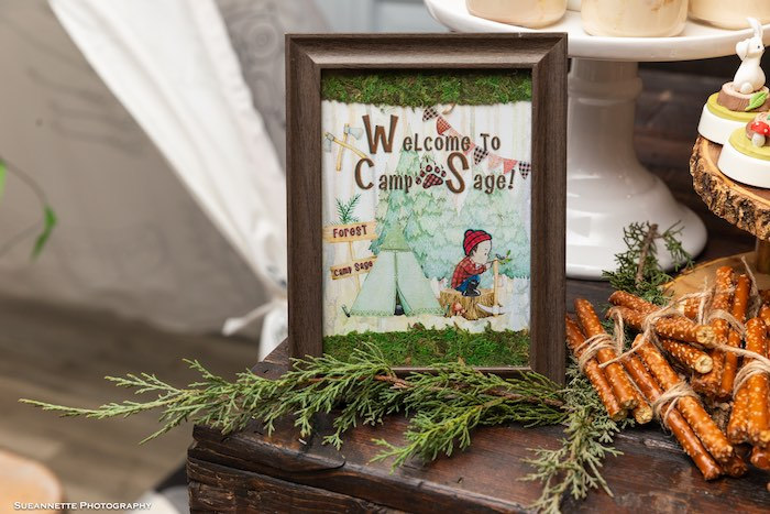 Welcome To Camp Sage Camper Print from a Little Lumberjack Camping Birthday Party on Kara's Party Ideas | KarasPartyIdeas.com (14)