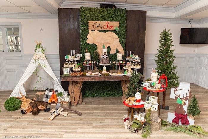 Little Lumberjack Camping Birthday Party on Kara's Party Ideas | KarasPartyIdeas.com (13)