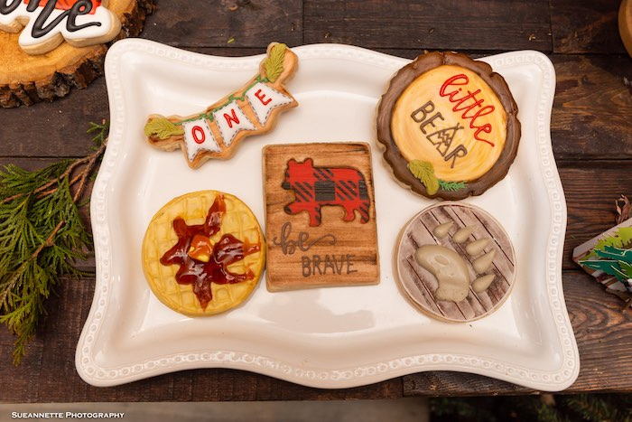 Lumberjack Cookies from a Little Lumberjack Camping Birthday Party on Kara's Party Ideas | KarasPartyIdeas.com (4)
