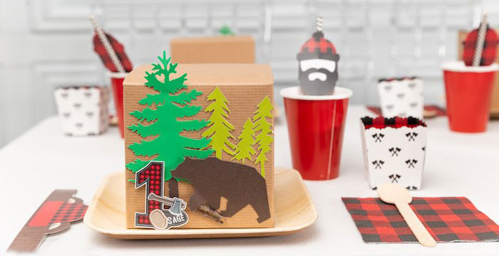 Little Lumberjack Camping Birthday Party on Kara's Party Ideas | KarasPartyIdeas.com (1)