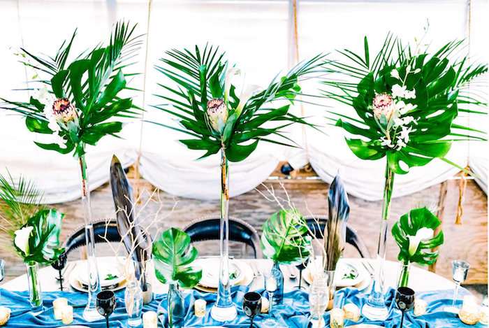 Tropical Dining Table from a Luxe Tropics Dinner Party on Kara's Party Ideas | KarasPartyIdeas.com (14)