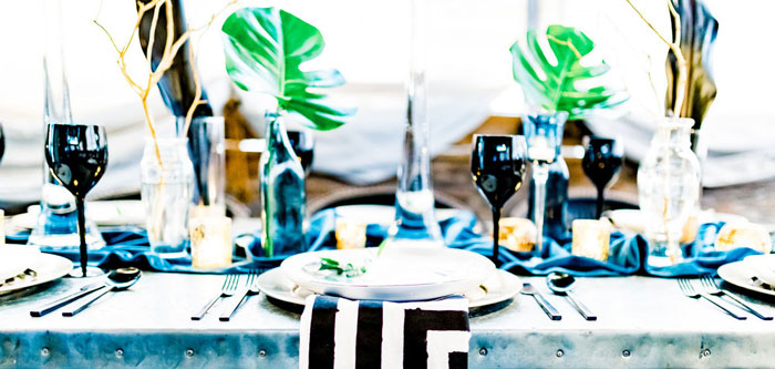 Luxe Tropics Dinner Party on Kara's Party Ideas | KarasPartyIdeas.com (2)