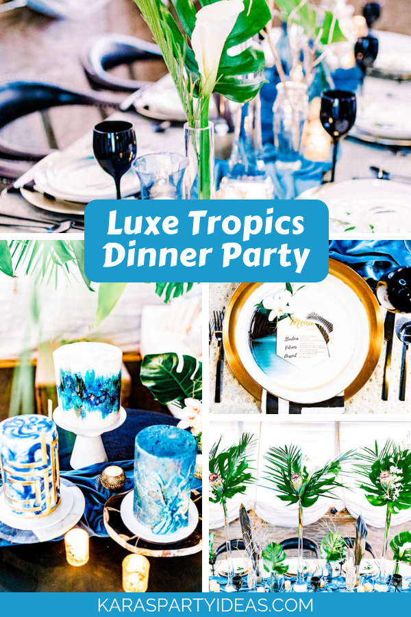 Luxe Tropics Dinner Party via Kara's Party Ideas - KarasPartyIdeas.com