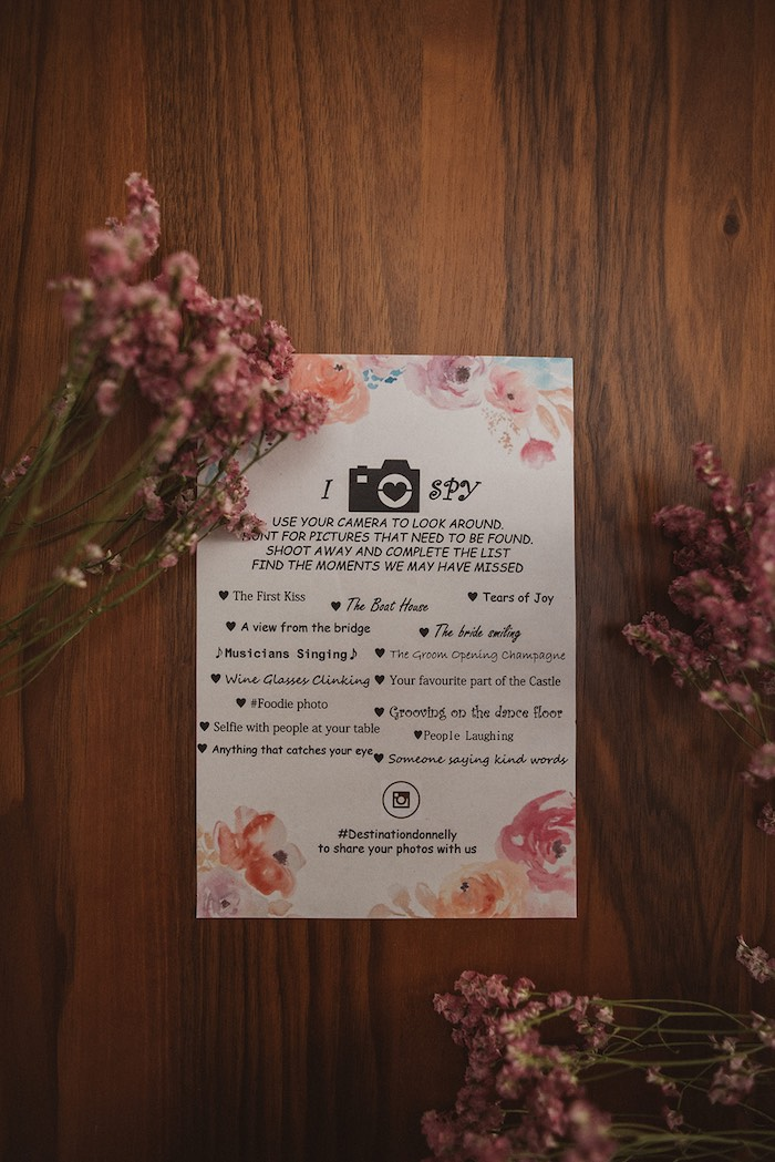 I SPY - Camera Game from a Luxury Castle Destination Wedding on Kara's Party Ideas | KarasPartyIdeas.com (29)