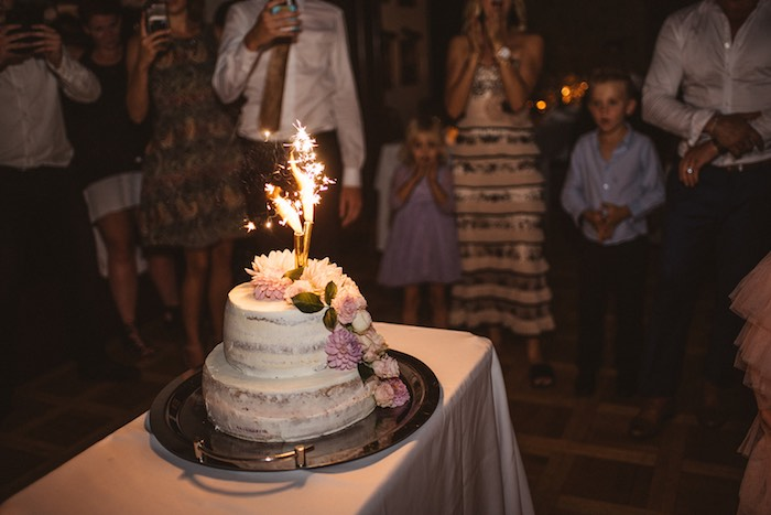 Semi-naked Firework Cake from a Luxury Castle Destination Wedding on Kara's Party Ideas | KarasPartyIdeas.com (7)