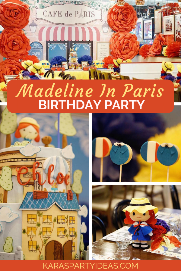 Madeline In Paris Birthday Party via Kara's Party Ideas - KarasPartyIdeas.com