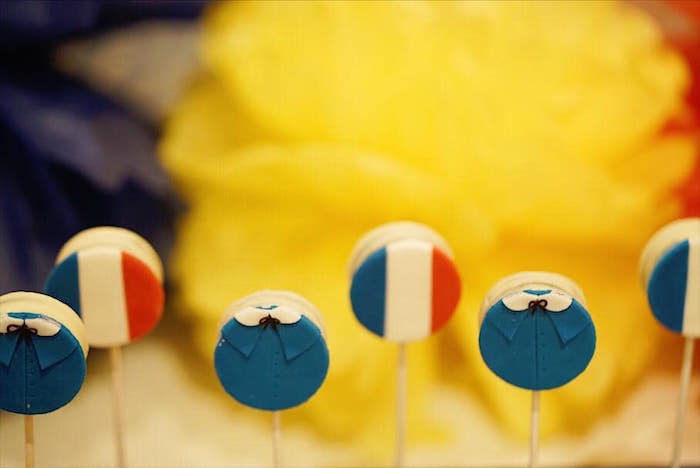 Madeline Themed Oreo Pops from a Madeline in Paris Birthday Party on Kara's Party Ideas | KarasPartyIdeas.com (8)