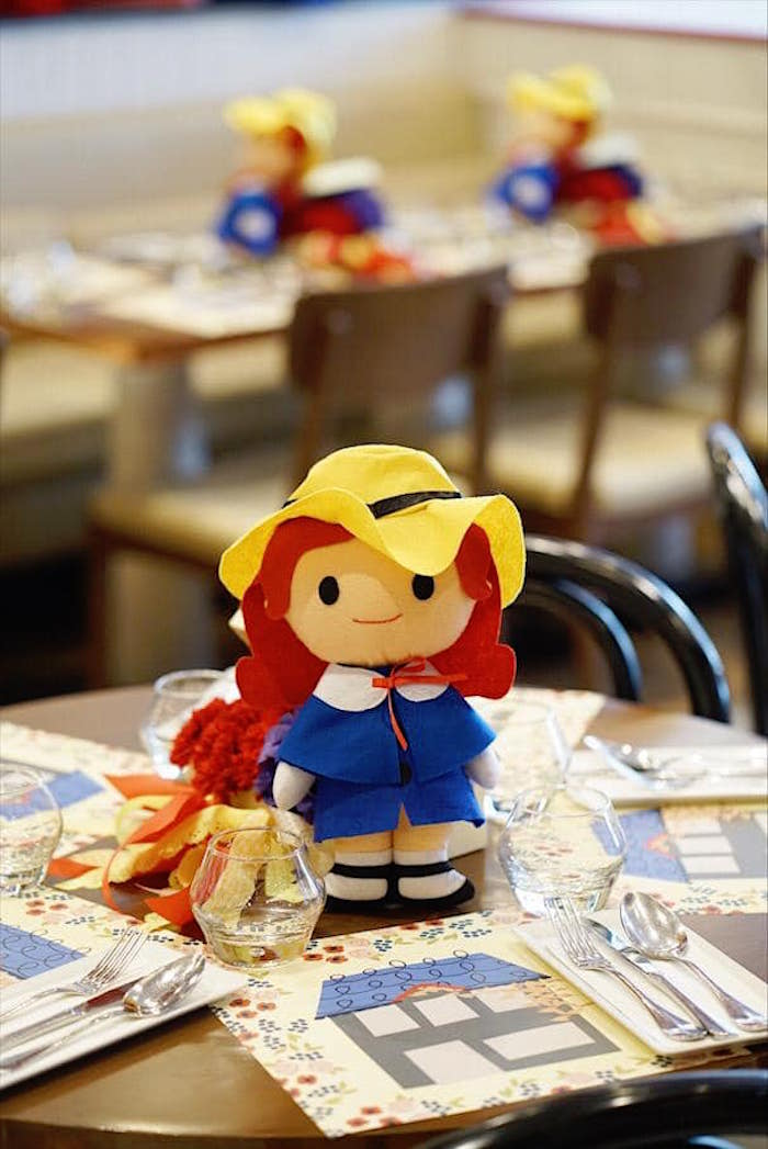 Plush Madeline Doll Table Centerpiece from a Madeline in Paris Birthday Party on Kara's Party Ideas | KarasPartyIdeas.com (22)