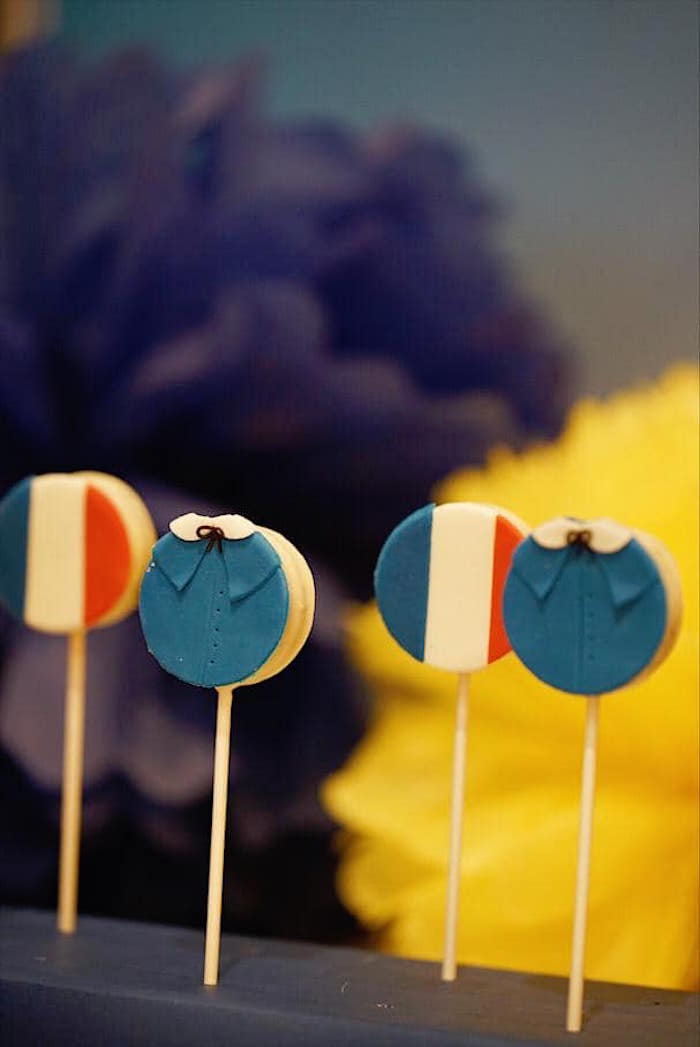 Madeline Themed Oreo Pops from a Madeline in Paris Birthday Party on Kara's Party Ideas | KarasPartyIdeas.com (21)
