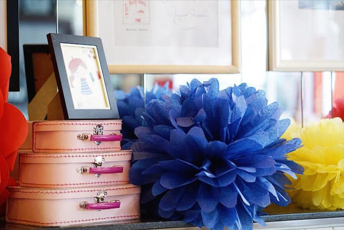 Madeline-inspired Decor from a Madeline in Paris Birthday Party on Kara's Party Ideas | KarasPartyIdeas.com (19)