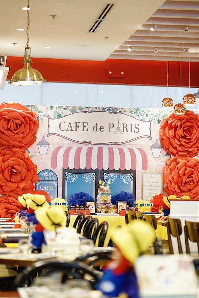 Cafe de Paris Backdrop from a Madeline in Paris Birthday Party on Kara's Party Ideas | KarasPartyIdeas.com (17)